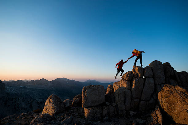 climbing to the top - endurance stock pictures, royalty-free photos & images