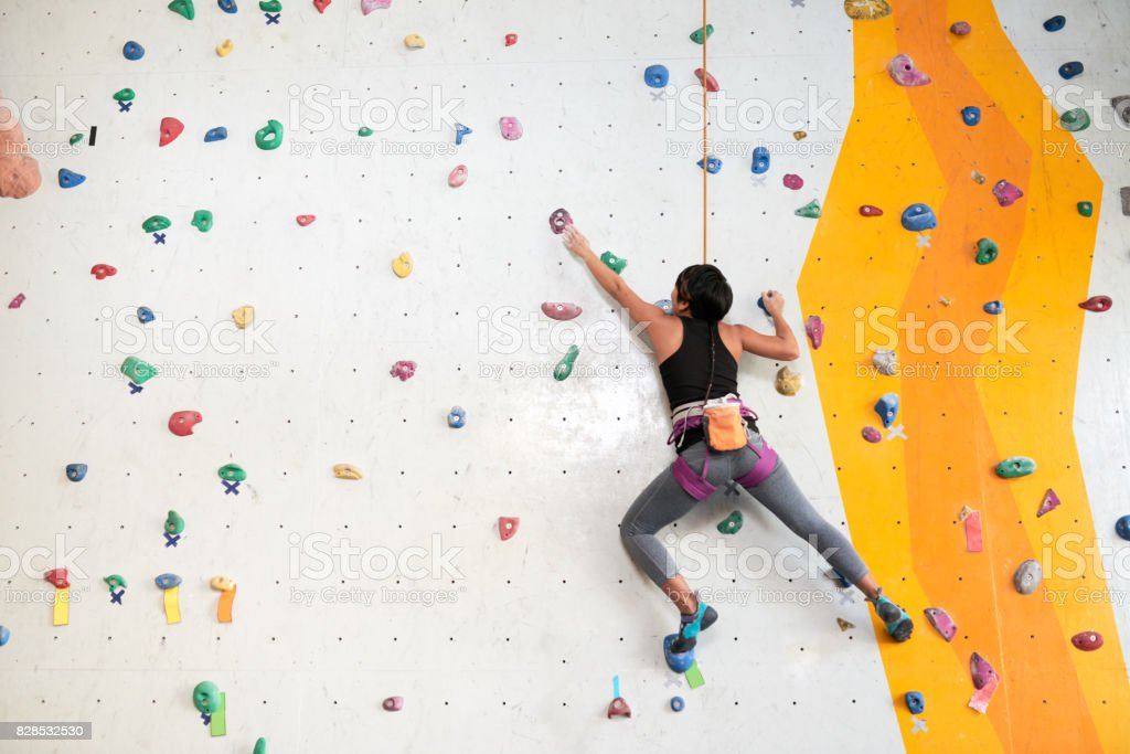Climbing training stock photo