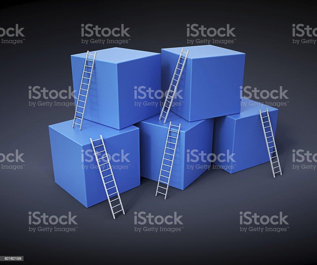 Klettern Sie die Leiter erklimmen – Foto