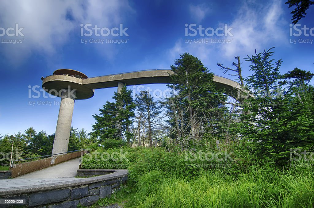 Clingmans Dome - Great Smoky Mountains National Park stock photo