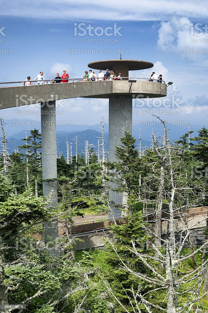 Clingmans Dome Observation Tower in Great Smoky Mountains National Park royalty-free stock photo