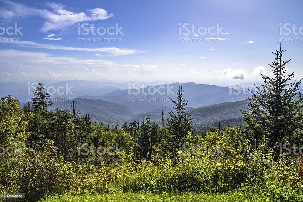 Clingmans Dome Summit Great Smoky Mountains National Park stock photo