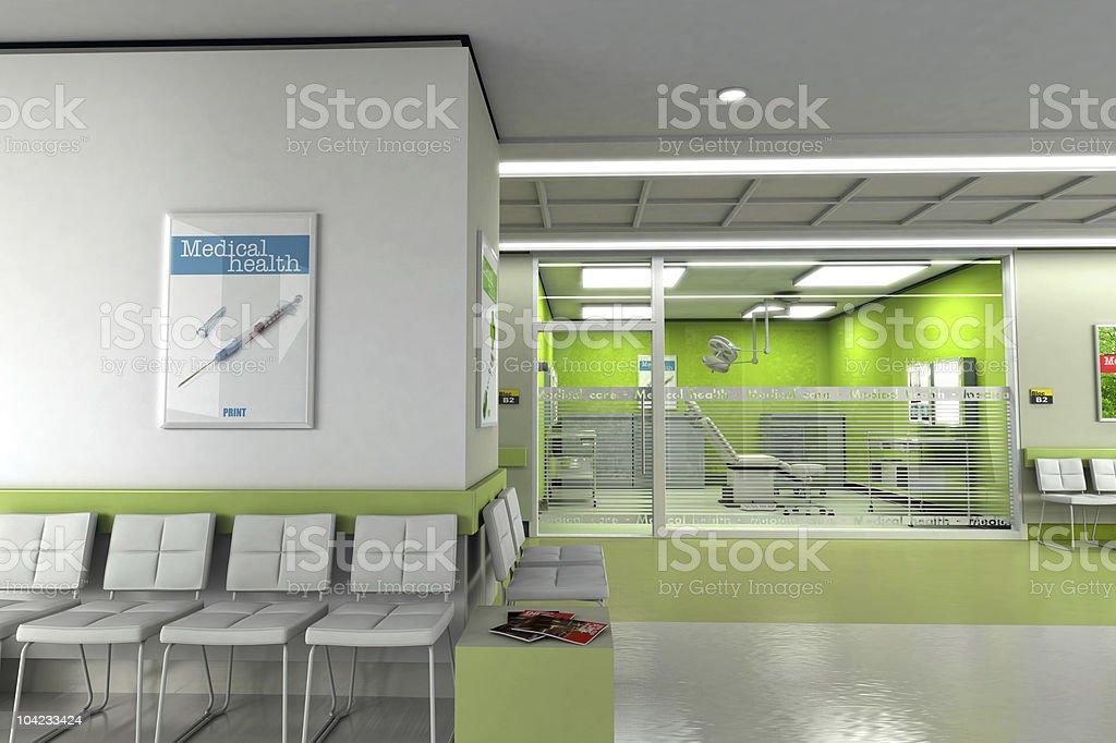 Clinic waiting room stock photo