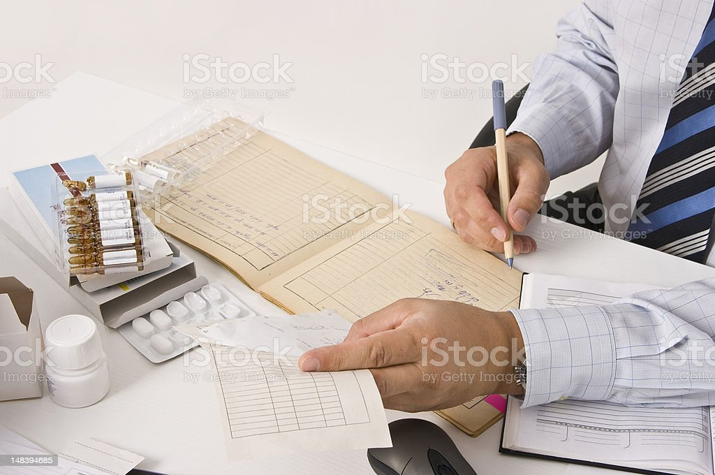 Clinical research royalty-free stock photo