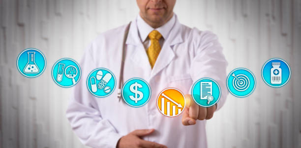 Clinician Lowering Price Of Approved Drug stock photo