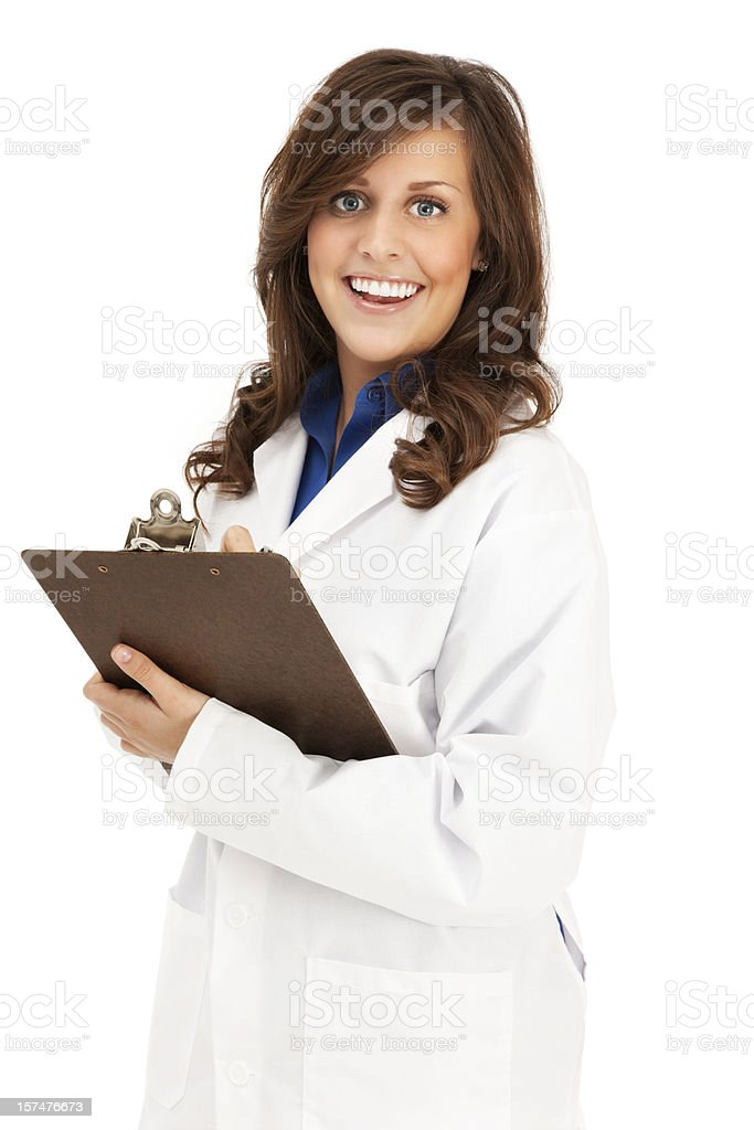 Clinician with Clipboard and Pen royalty-free stock photo