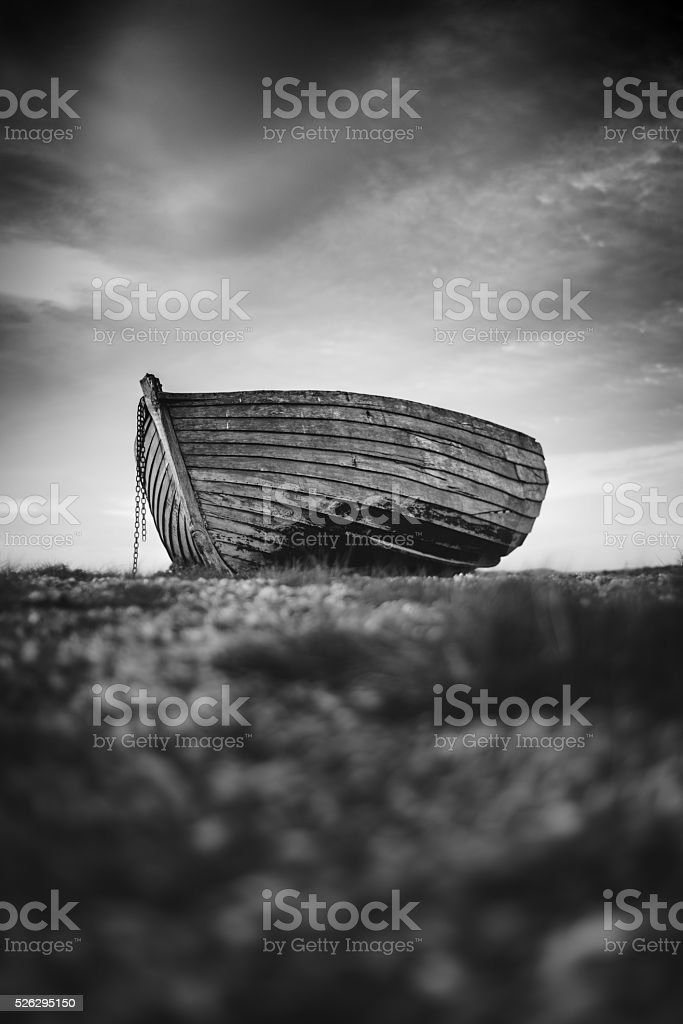 Clinker Built Boat stock photo