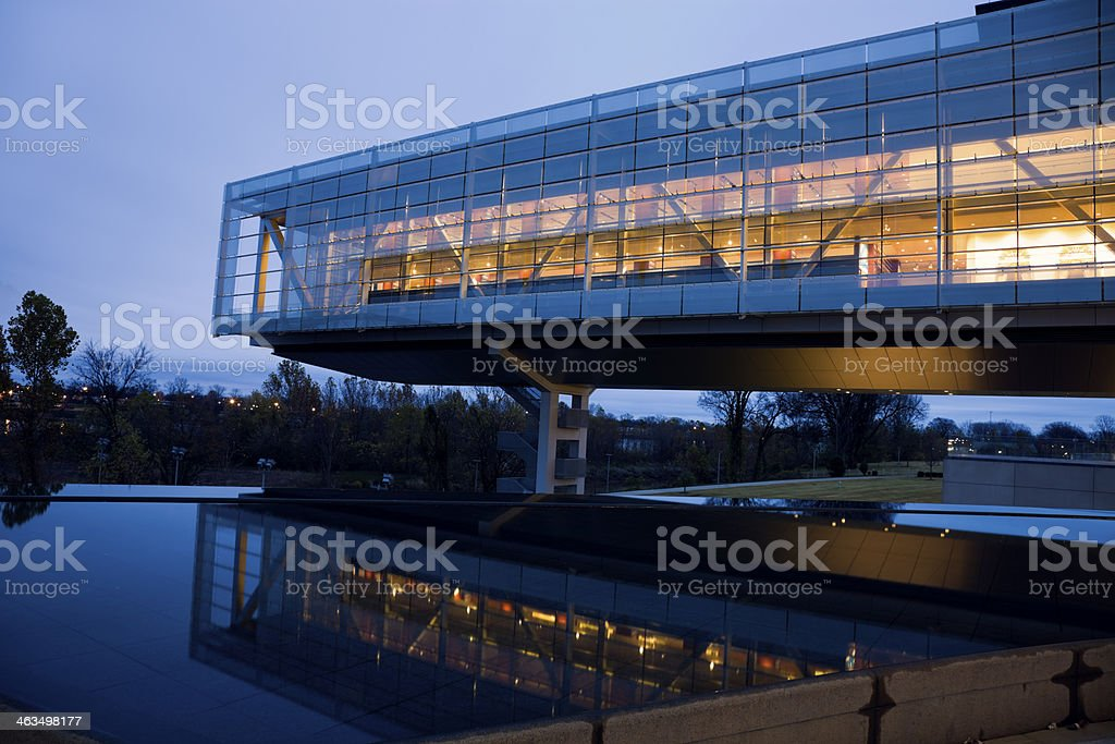Clinton Presidential Center in Little Rock stock photo