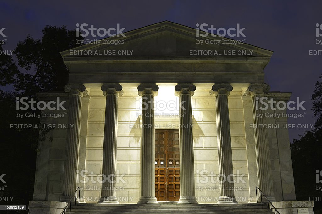 Clio Hall in Princeton University stock photo