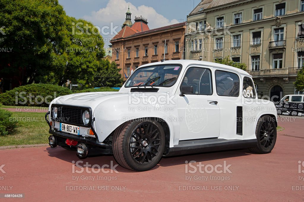 clio v6 disguised as renault 4 stock photo more pictures of alloy wheel istock. Black Bedroom Furniture Sets. Home Design Ideas