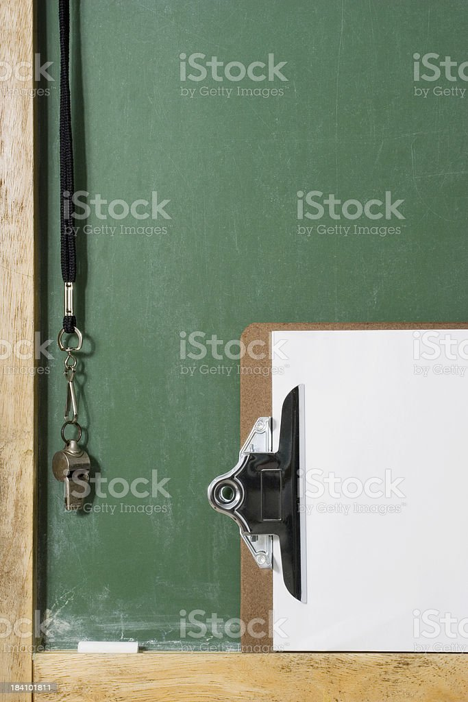 Clip and Chalkboard royalty-free stock photo