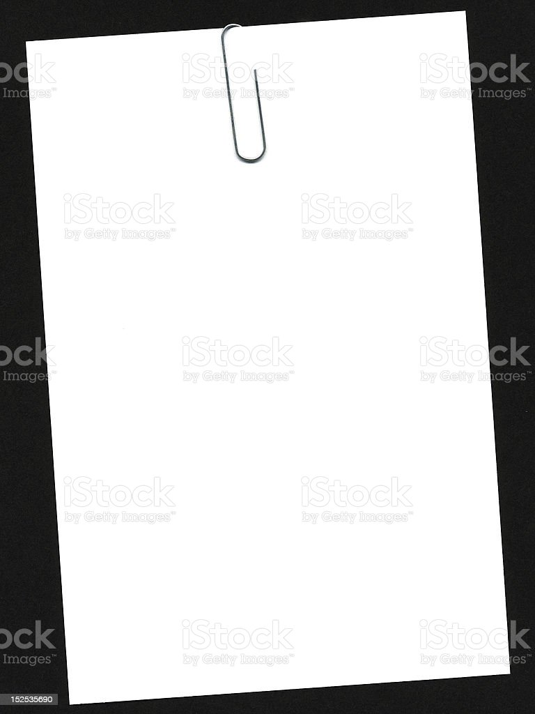 clip on paper royalty-free stock photo