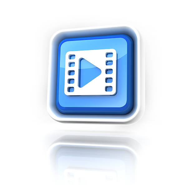 Clip Or streaming Icon stock photo