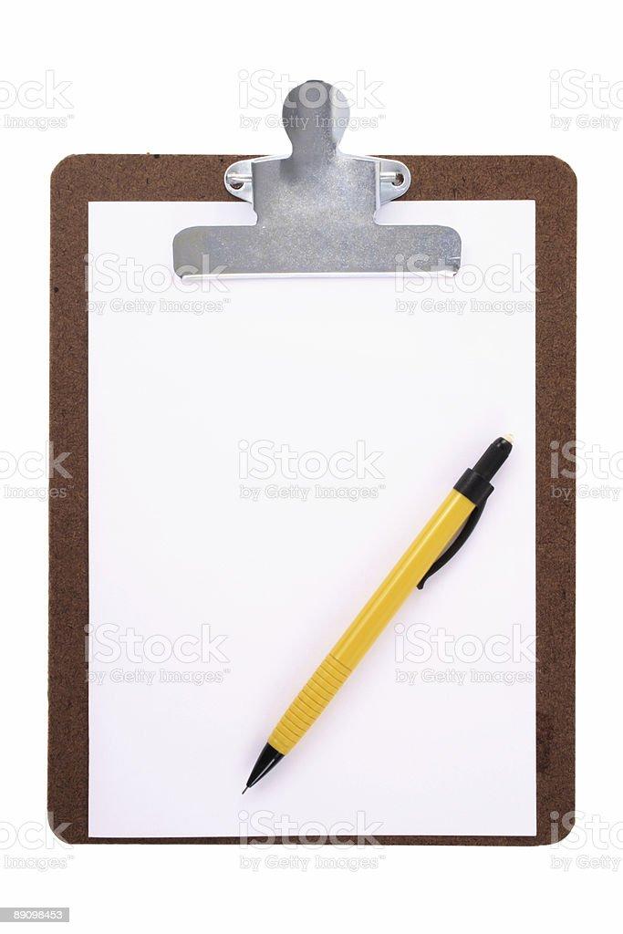Portapapeles y portaminas foto de stock libre de derechos