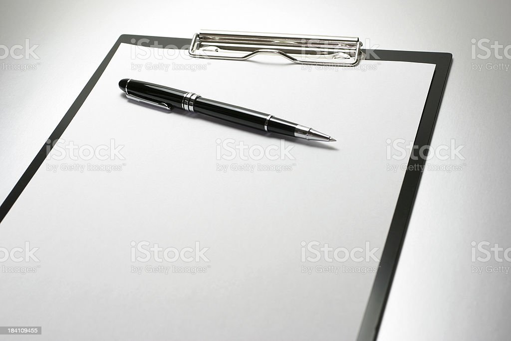 Clipboard and Pen royalty-free stock photo