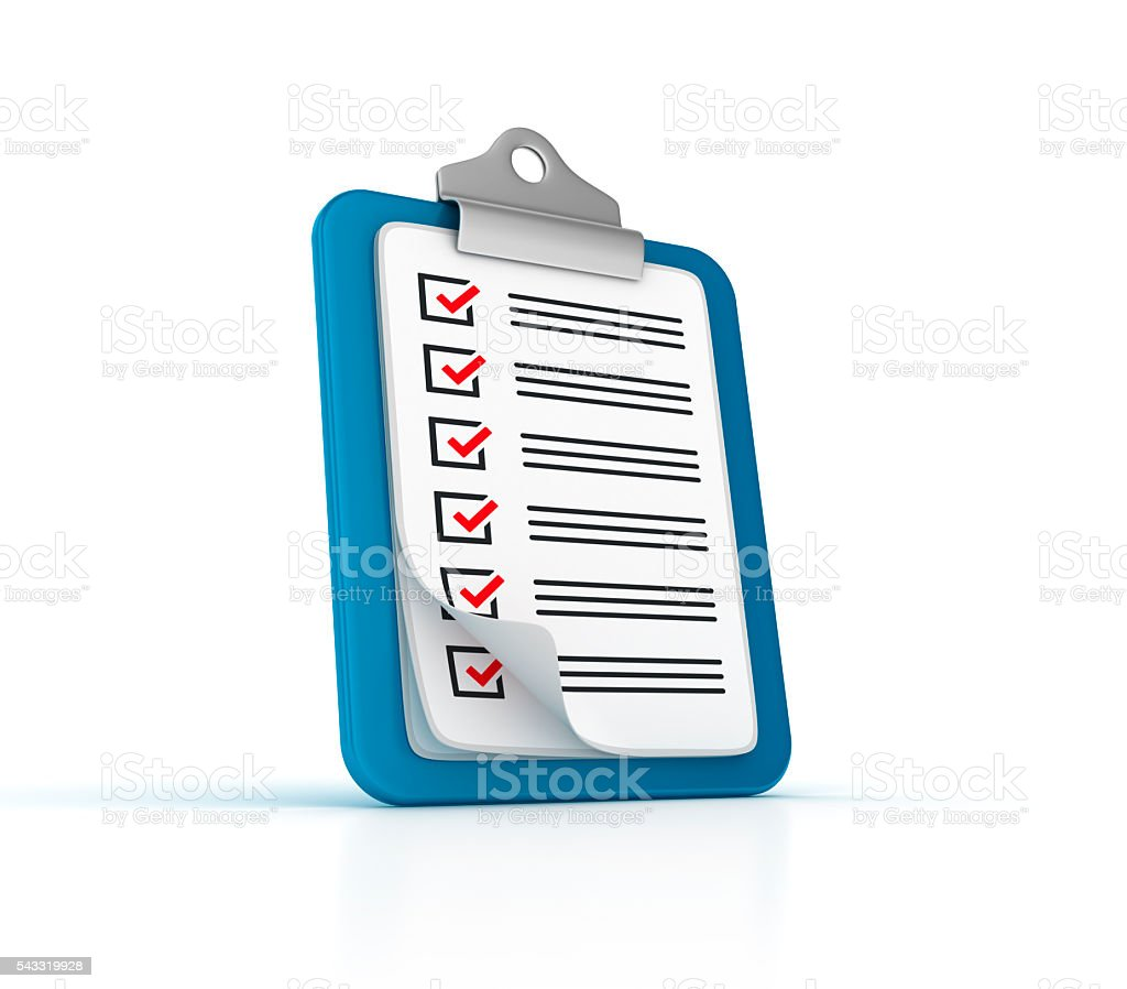 Clipboard Check List stock photo
