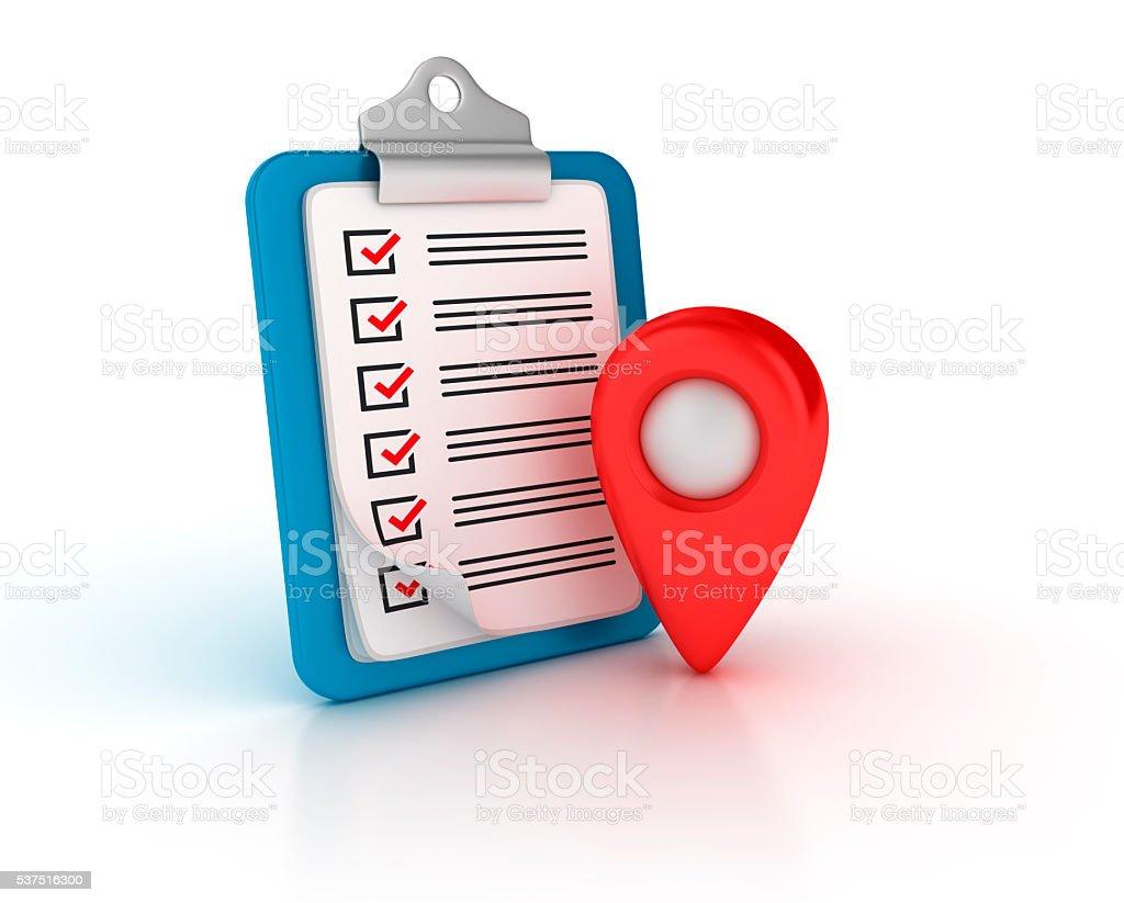 Presse-papiers de liste de contrôle électrique avec GPS - Photo