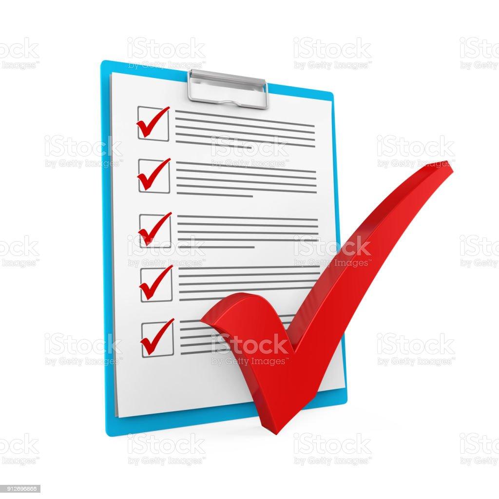 Clipboard Checklist Isolated stock photo
