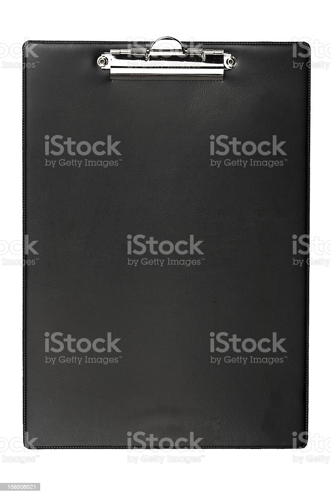 Clipboard isolated on white background royalty-free stock photo