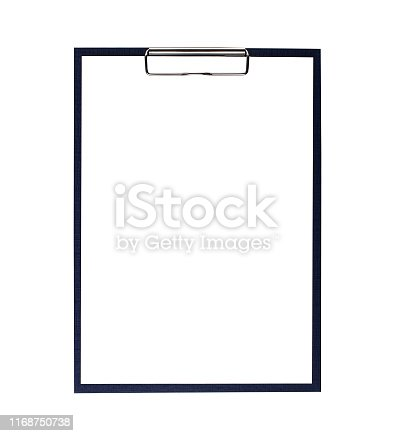 clipboard, isolated, white background, empty