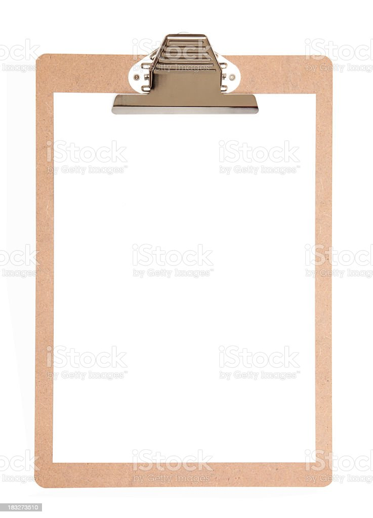 Clipboard royalty-free stock photo