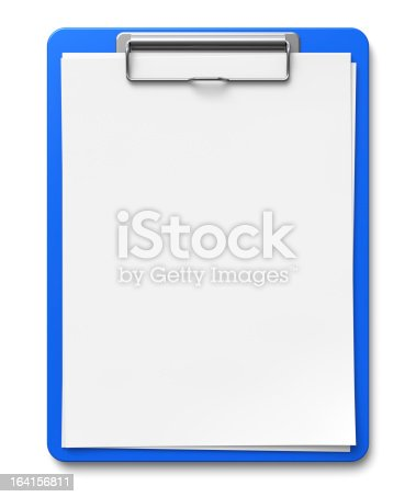 524051315 istock photo Clipboard with blank sheets of paper 164156811