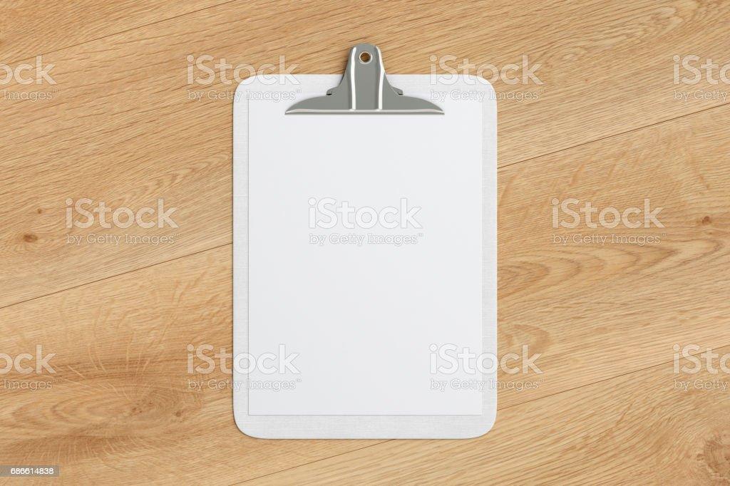 張空白的紙到剪貼簿 免版稅 stock photo