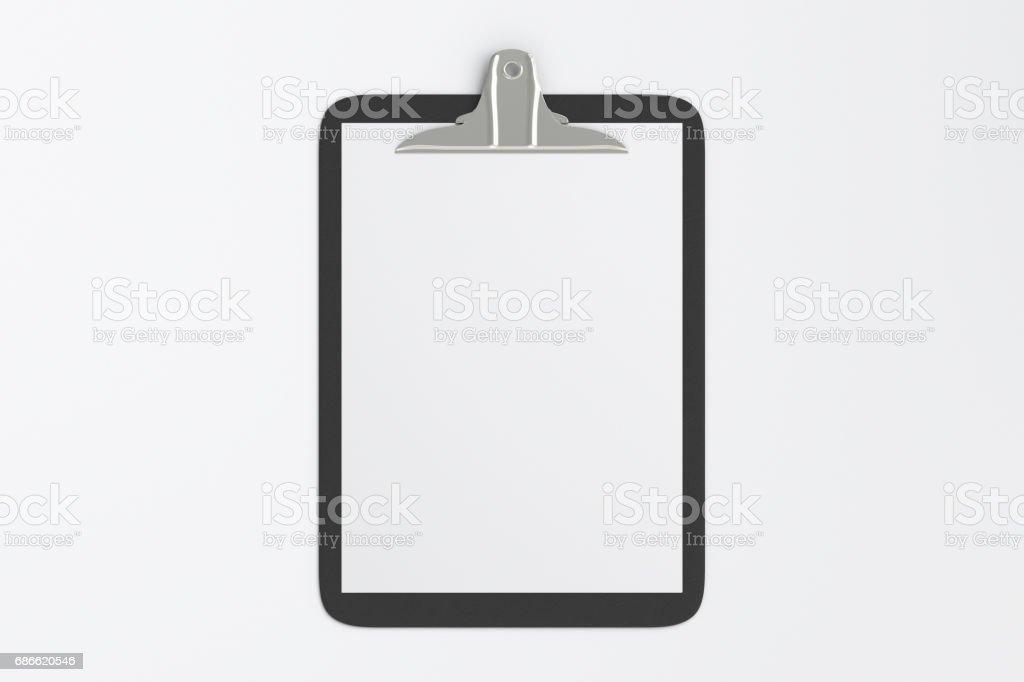 Presse-papiers avec fond, Blanc papier photo libre de droits