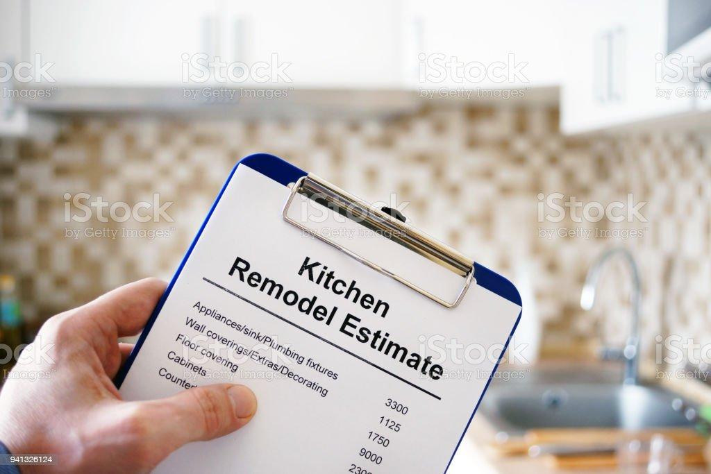 Zwischenablage Mit Küche Umgestalten Schätzung Kosten Für ...
