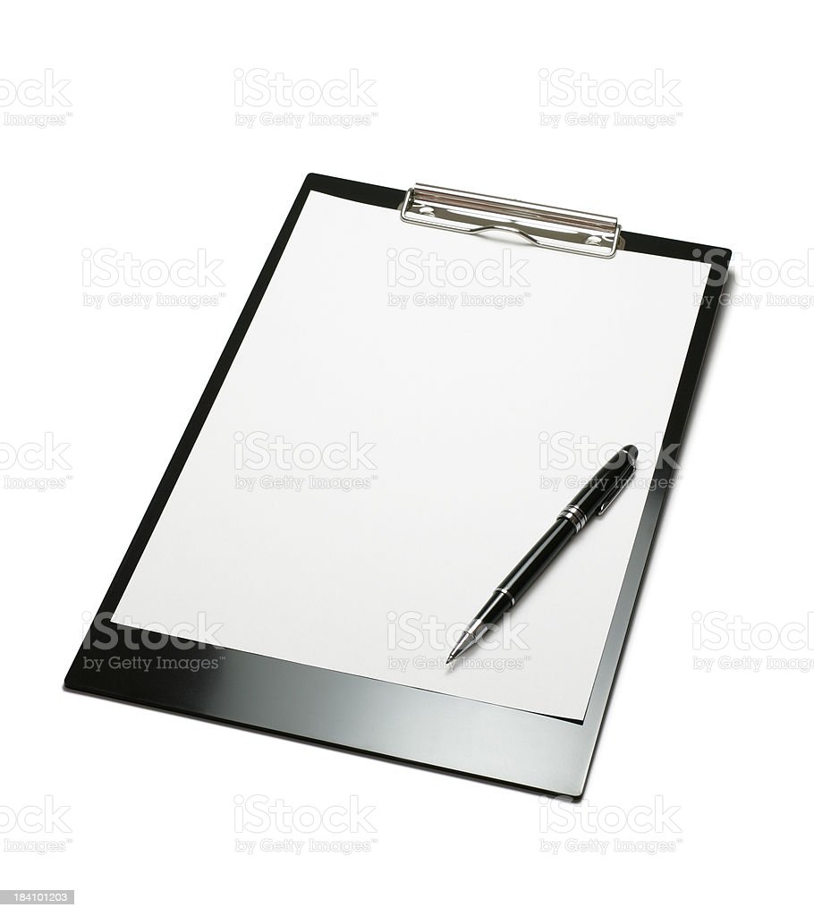 Clipboard with Pen royalty-free stock photo