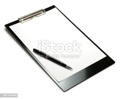 524051315 istock photo Clipboard with Pen 184104445
