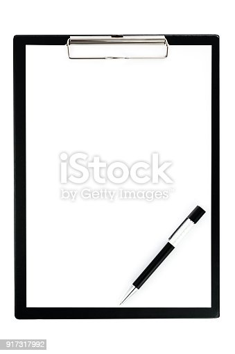 524051315 istock photo Clipboard with pen 917317992