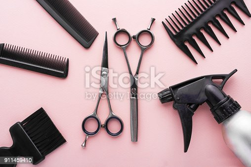 928445950 istock photo clippers, hair clippers, hair scissors, haircut accessories 911459410
