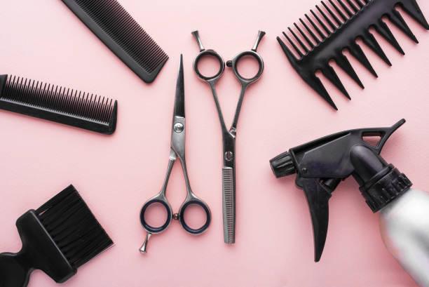 clippers, hair clippers, hair scissors, haircut accessories - sprzęt ogrodniczy zdjęcia i obrazy z banku zdjęć