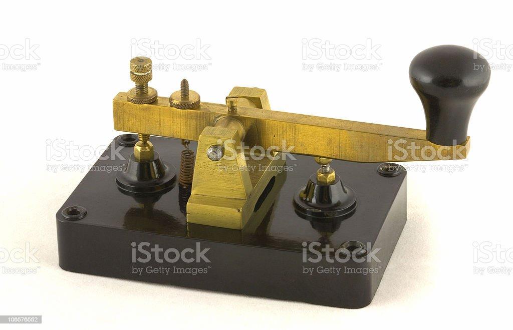 Clipsal Morse Key royalty-free stock photo