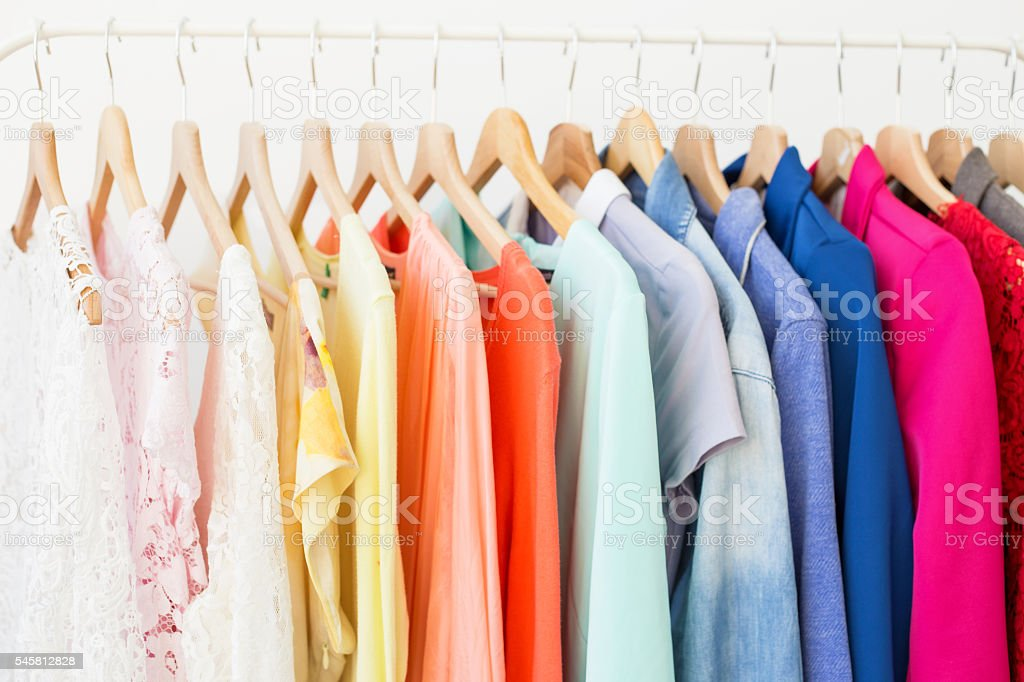 Cloathing rack stock photo