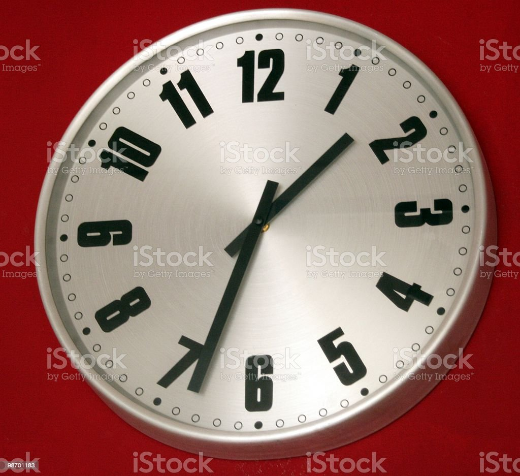 Clock, 1:33 royalty-free stock photo
