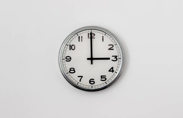 Clock - 3:00 stock photo