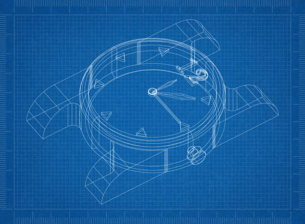 Royalty free drawing of the clock face without hands pictures clock 3d blueprint stock photo malvernweather Image collections