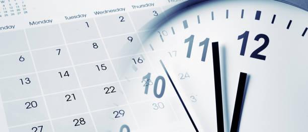 clock and calendar - calendar zdjęcia i obrazy z banku zdjęć