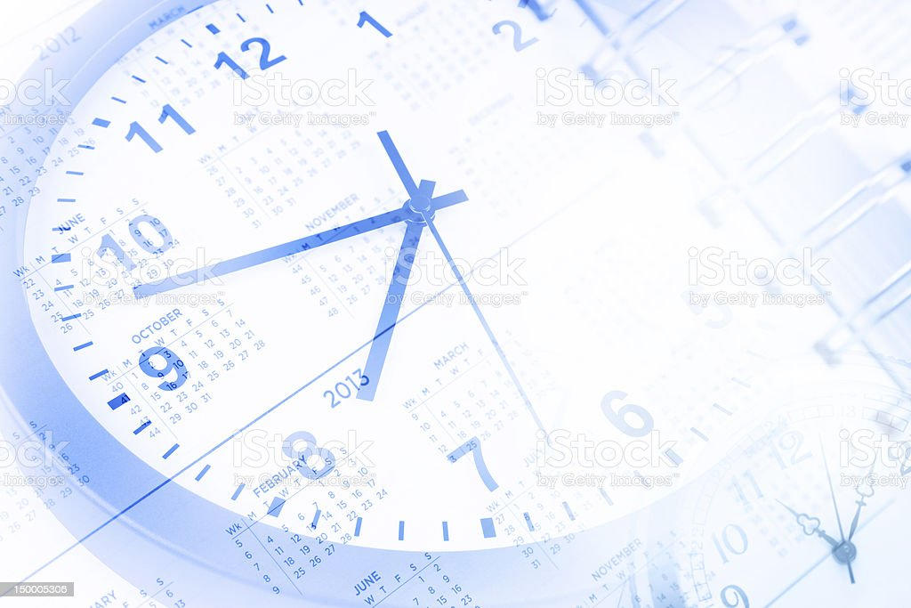 Clock and calendar royalty-free stock photo