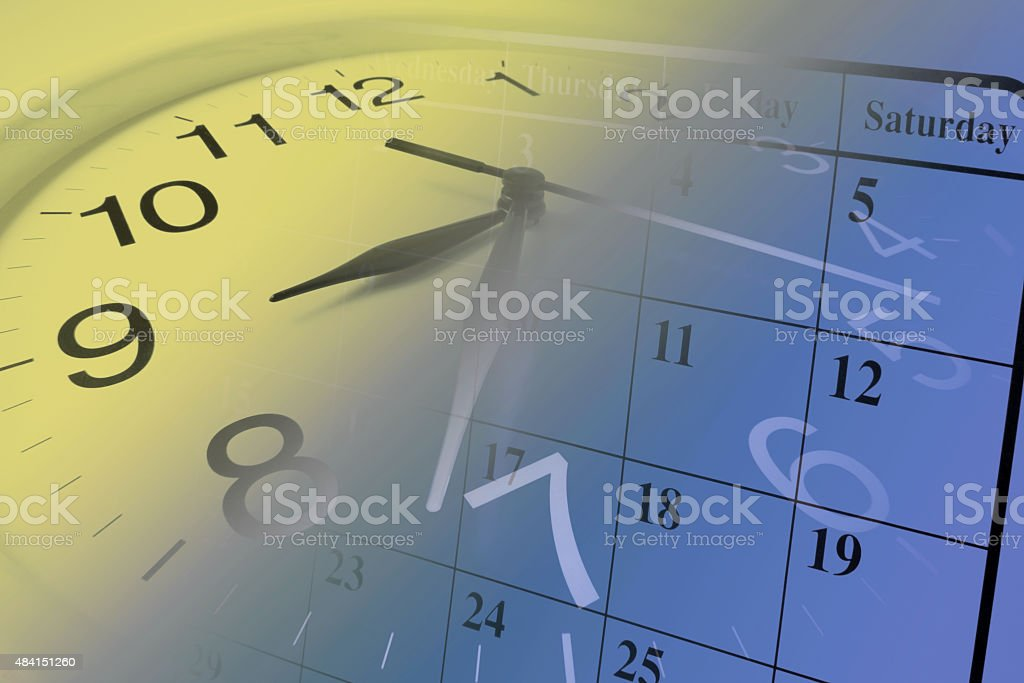 Reloj y calendario - foto de stock