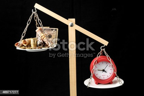 614338352 istock photo Clock and Currency Time is Money Concept 469717277