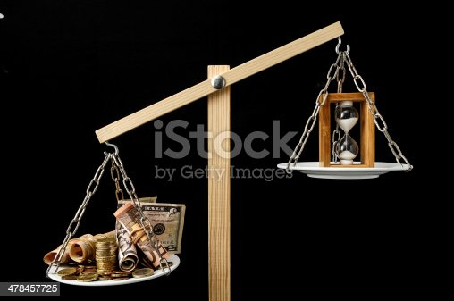 614338352 istock photo Clock and Currency Time is Money Concept 478457725