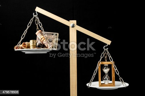 614338352 istock photo Clock and Currency Time is Money Concept 479578503