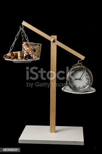614338352 istock photo Clock and Currency Time is Money Concept 480968351