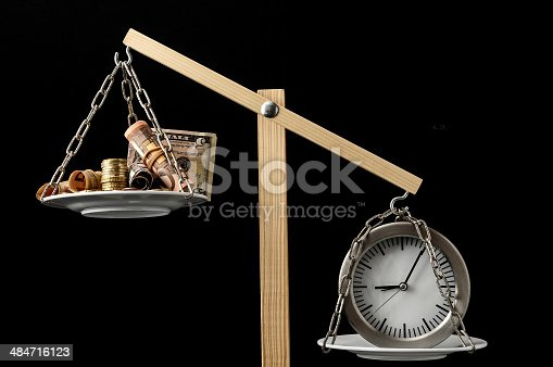 614338352 istock photo Clock and Currency Time is Money Concept 484716123