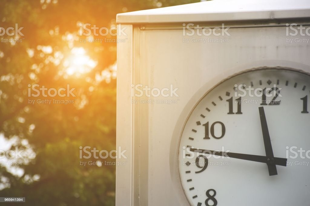clock and sunlight in nature garden - Royalty-free Beauty Stock Photo
