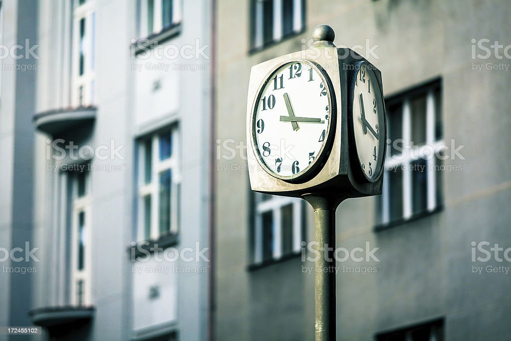 Clock and Urban Architecture royalty-free stock photo