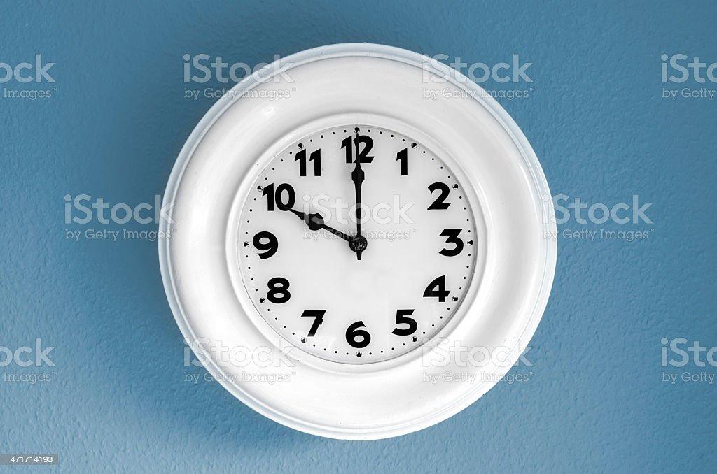 Clock at 10 o'clock stock photo